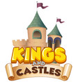 font design for word kings and castles on white vector image vector image