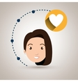 girl connection app icon vector image