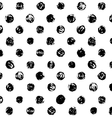 Grunge Polka Seamless Pattern vector image vector image