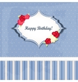 happy birthday card design romantic style vector image vector image