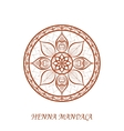 Henna Color Mandala over white vector image