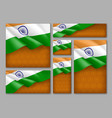 indian patriotic festive banners set vector image