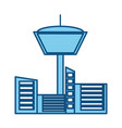 isolated building tower vector image vector image