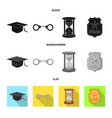 isolated object of law and lawyer sign set of law vector image