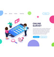 isometric online survey concept vote or checklist vector image vector image