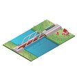 isometric passenger high speed train concept vector image