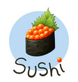 japanese food sushi vector image vector image