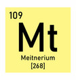 meitnerium chemical symbol vector image vector image