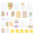 note papers sticker business message vector image