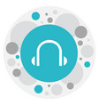 of bureau symbol on headphone vector image vector image