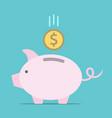 piggy bank dollar coin vector image vector image