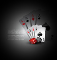 playing card and dices vector image vector image