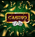 realistic banner with dice vector image vector image