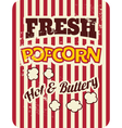 retro style popcorn packaging design vector image vector image