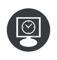 Round clock monitor icon vector image