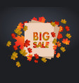 sales banner with autumn leaves vector image vector image