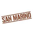 san marino brown square stamp vector image vector image