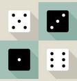 set dice icon vector image