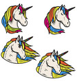 set of magic unicorn isolated on vector image vector image