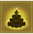 Shiny neon Christmas tree Xmas card New year vector image vector image