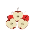 silhouette colorful set with apples vector image vector image