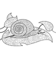 Snail coloring book for adults vector image vector image