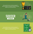 soccer tournament infographic vector image