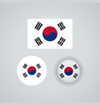 south korean trio flags vector image vector image
