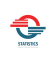 statistics infographic concept logo template vector image vector image