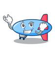 successful zeppelin character cartoon style vector image