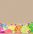 sweet shop card with color lollypop border vector image vector image