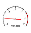 tachometer scale vector image vector image