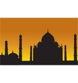 Taj Mahal of silhouette vector image