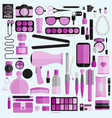 tools for makeup business tools flat design vector image vector image