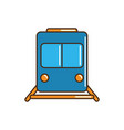 train wagon railway transport line and fill vector image