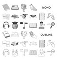 translator and linguist monochrom icons in set vector image vector image