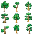 Tree set on doodles vector image vector image