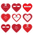Valentines day hearts stickers vector image