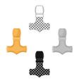 viking god hammer icon in cartoonblack style vector image
