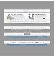 Web site design menu vector image