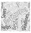 When Outsourcing Is The Best Solution Word Cloud