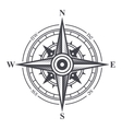 Wind Rose or Compass Icon on White Background vector image vector image
