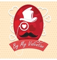 Greeting card by my valentine happy Day vector image