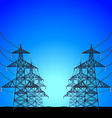 High-voltage power towers background vector image