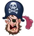 pirate head vector image