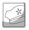 figure hat police icon image vector image