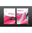 3d triangle shapes Business annual report cover vector image vector image
