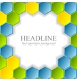 Abstract bright hexagons pattern design vector image vector image