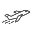 airplane line icon aircraft and travel plane vector image vector image