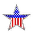 american star metal icon vector image